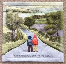 Commissioned quilt for Wolds Walkers